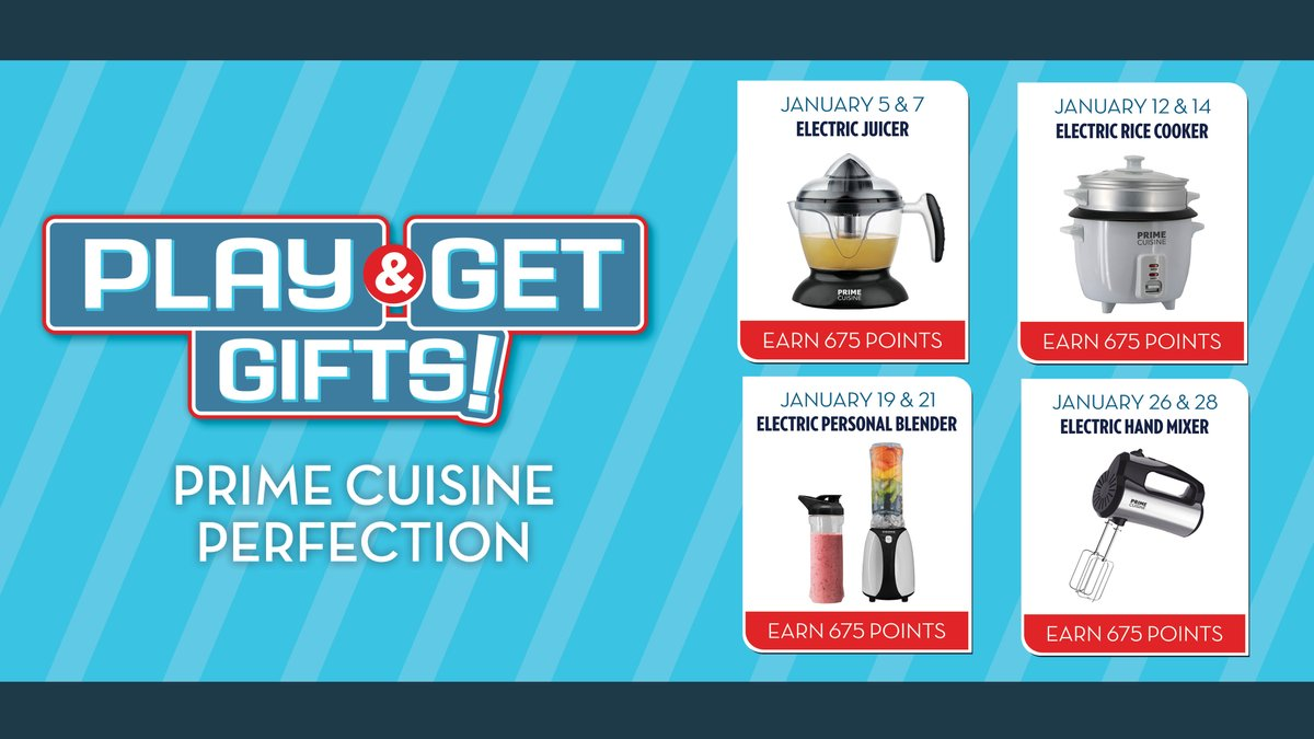 New Year. New Play & Get Gifts for your kitchen! ❄️   Learn more:
