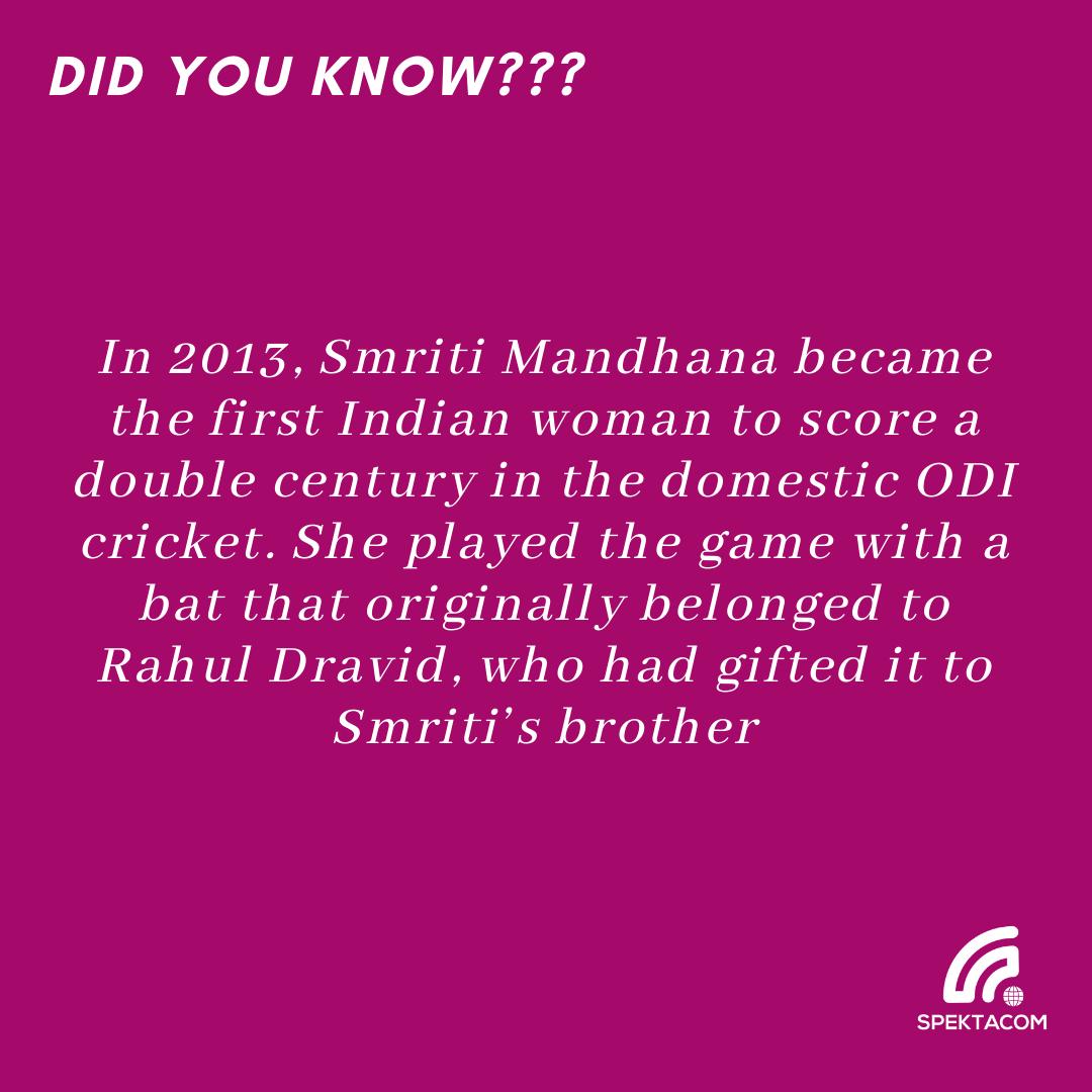 #Circket #SpekTalk #TriviaTuesday 24 #dravid #smritimandhana #womenscricket
