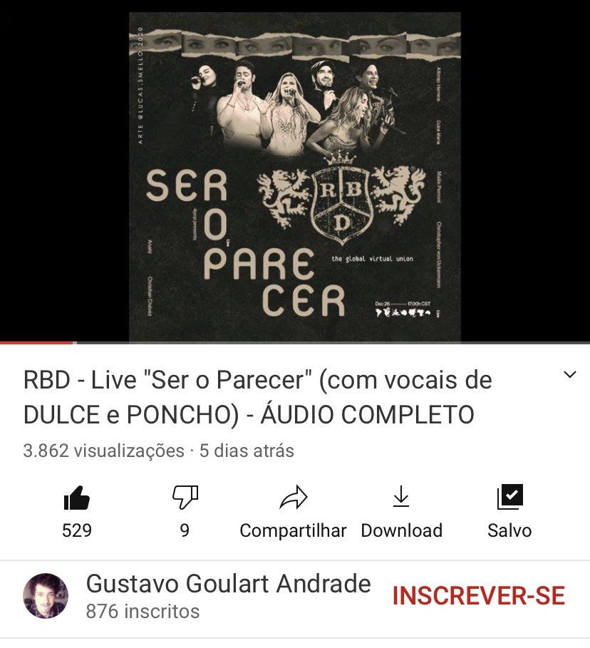 Um fã brasileiro do #RBD incluiu os vocais da Dulce e do Afonso na live #SerOParecer.   Eu não sabia que eu precisava ouvir até ouvir!  #RBDSerOParecer