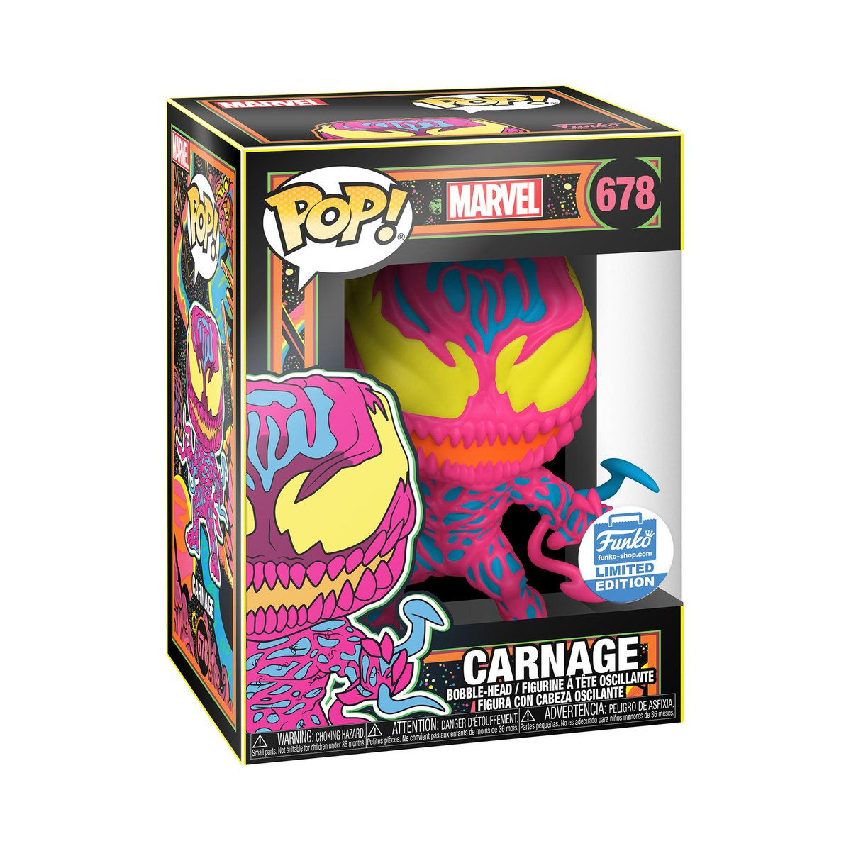 RT & follow @OriginalFunko for the chance to WIN this Funko exclusive Carnage Blacklight Pop! #Funko #Funkogiveaway #Marvel #Carnage