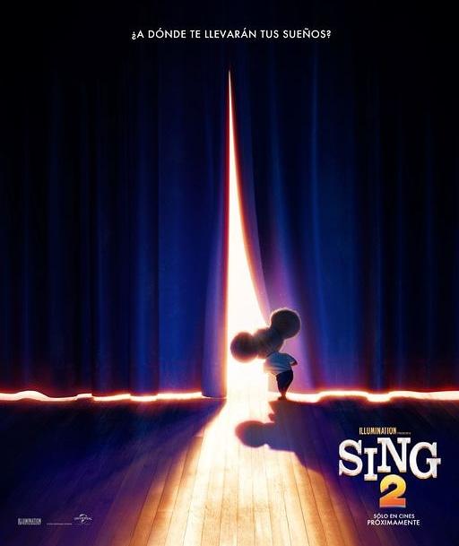 Te dejamos el 1er afiche de #Sing2, En el elenco de voces en su idioma original se mantendrá con los mismos actores de la primera película, pero para está segunda parte se han sumado otros super actores.