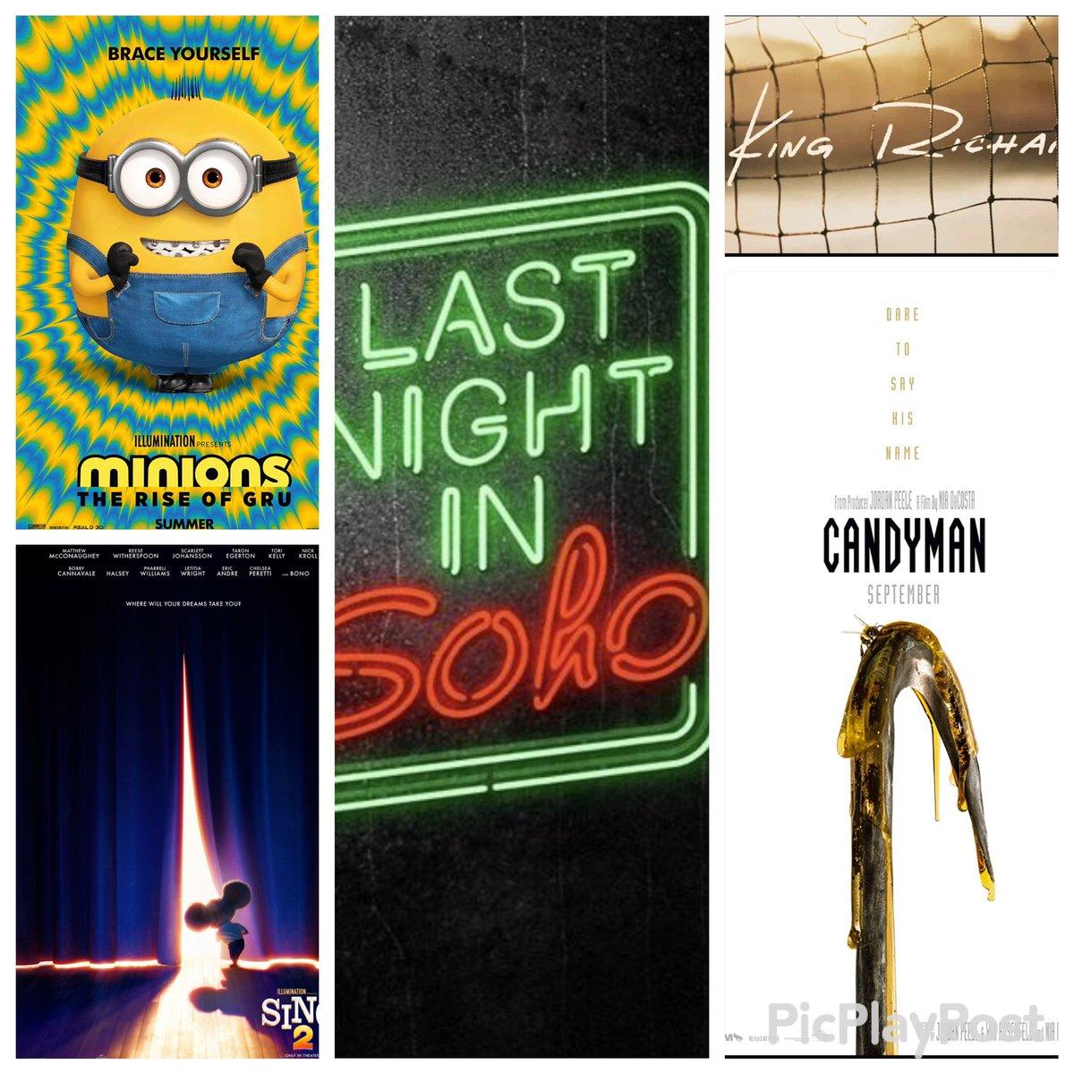 40.- #Minions: The Rise of Gru (Julio) 39.- #KingRichard (Noviembre) 38.- #Sing2 (Diciembre)  37.- #Candyman (Agosto)  36.- #LastNightInSoho (Abril)