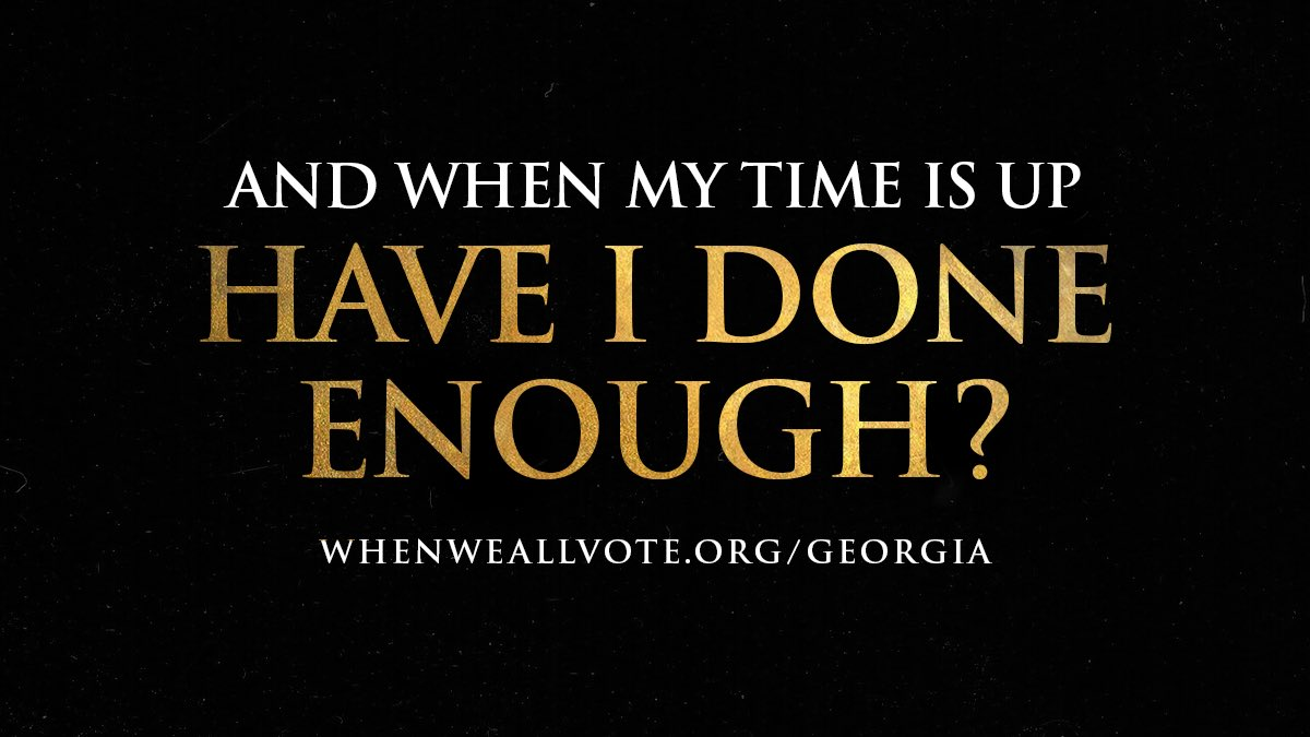 Let's get it done tomorrow in Georgia:  #WhenWeAllVote