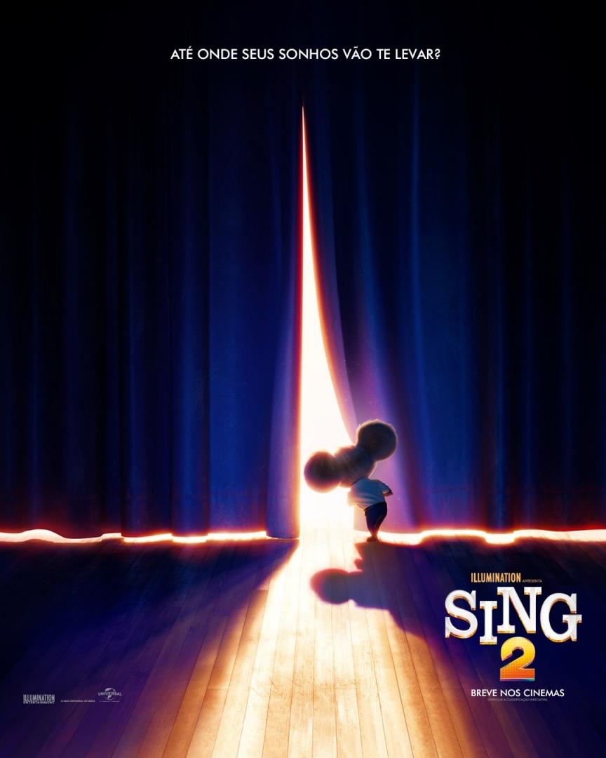 Confira o novo cartaz de #SING2, em 2021 na Moviecom. 🎤💜