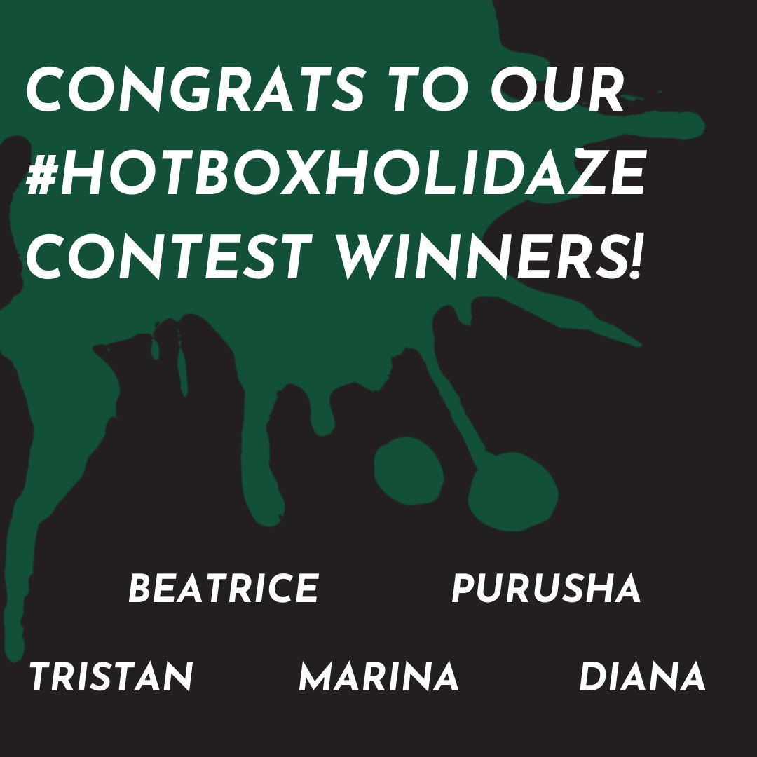 Shoutout to everyone who ordered up some munchies & shared how they celebrate the holidaze with HotBox by Wiz 🔥 Stay tuned for more sick giveaways 👀