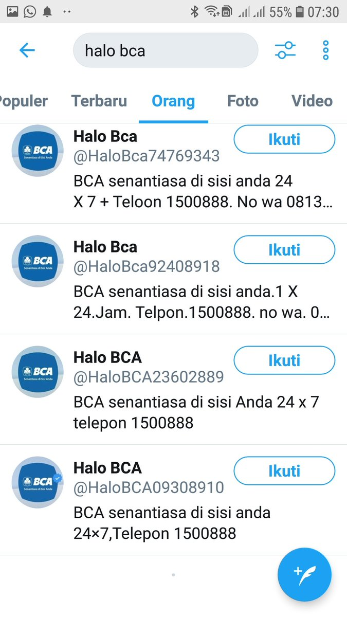 Halo Bca On Twitter Numbers Pins Or Otp Codes Please Access The Link Https T Co Pqzqxowcze For Information On Banking Security Tips For Information About Bca Official Accounts You Can Access The Link Https T Co Ztzwpfzmia