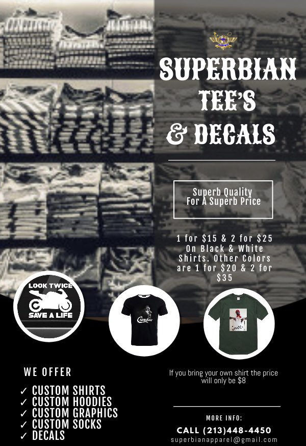If you need shirts for your brand at a superb price then hit up the number on the flyer