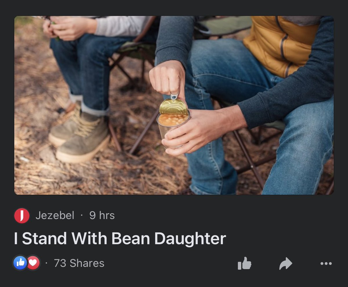 "Times like this are when I love that I'm not ""online"" enough so that when I see articles this like I think I've been living in some continual fever dream sequence.  #BeanDad #BeanDaughter"
