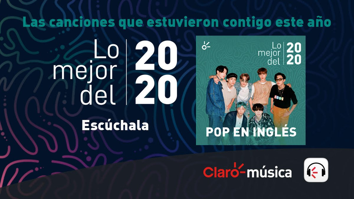 Thank you @ClaromusicaMX for including us on your 'Lo mejor del 2020 Pop en Inglés' playlist!  🎧