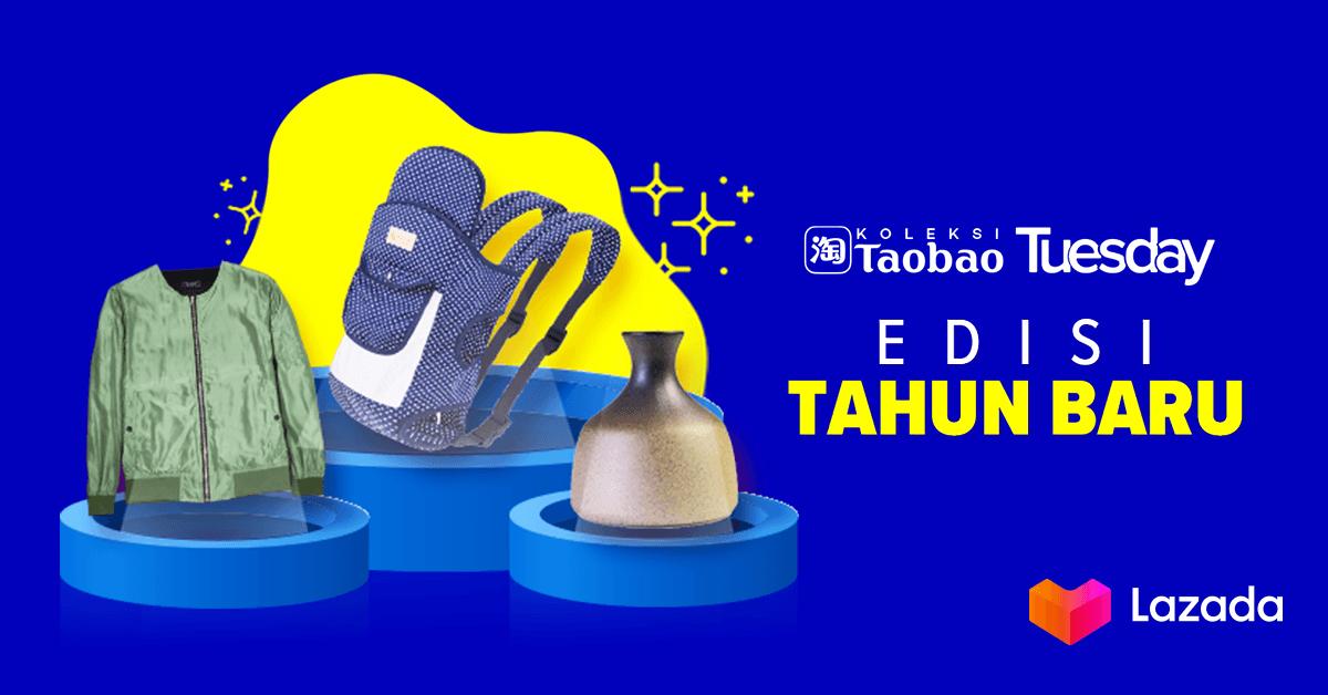 Awali tahun baru dengan semua serba baru dari Taobao Edisi Tahun Baru yang sekarang lagi diskon hingga 80%! Ngga cuma itu, kamu juga bisa dapetin voucher ekstra diskon. Yang ngga mau kelewatan, langsung klik disini:   #LazadaID #SemuaAdaDirumah