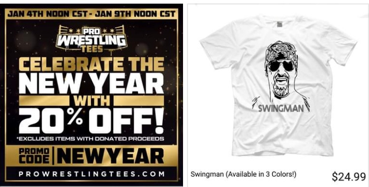 Wear it to the gym and your guaranteed extra reps on the preacher curl daddy. #ImpactWrestling
