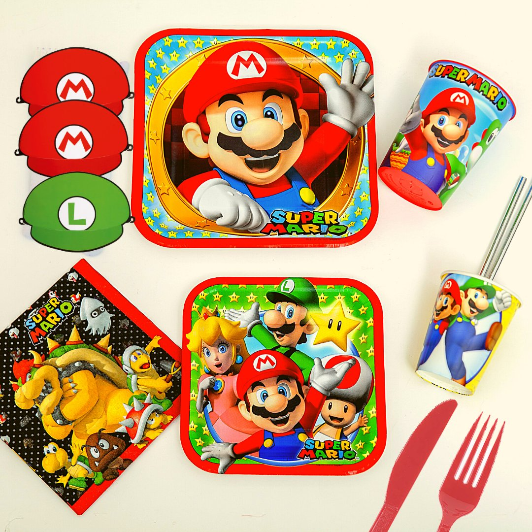 Power up your theme celebration with our Super Mario Collection.  #birthday #celebratebirthday #themecelebration #SuperMario #SuperMariocelebration #SuperMariocelebrationideas