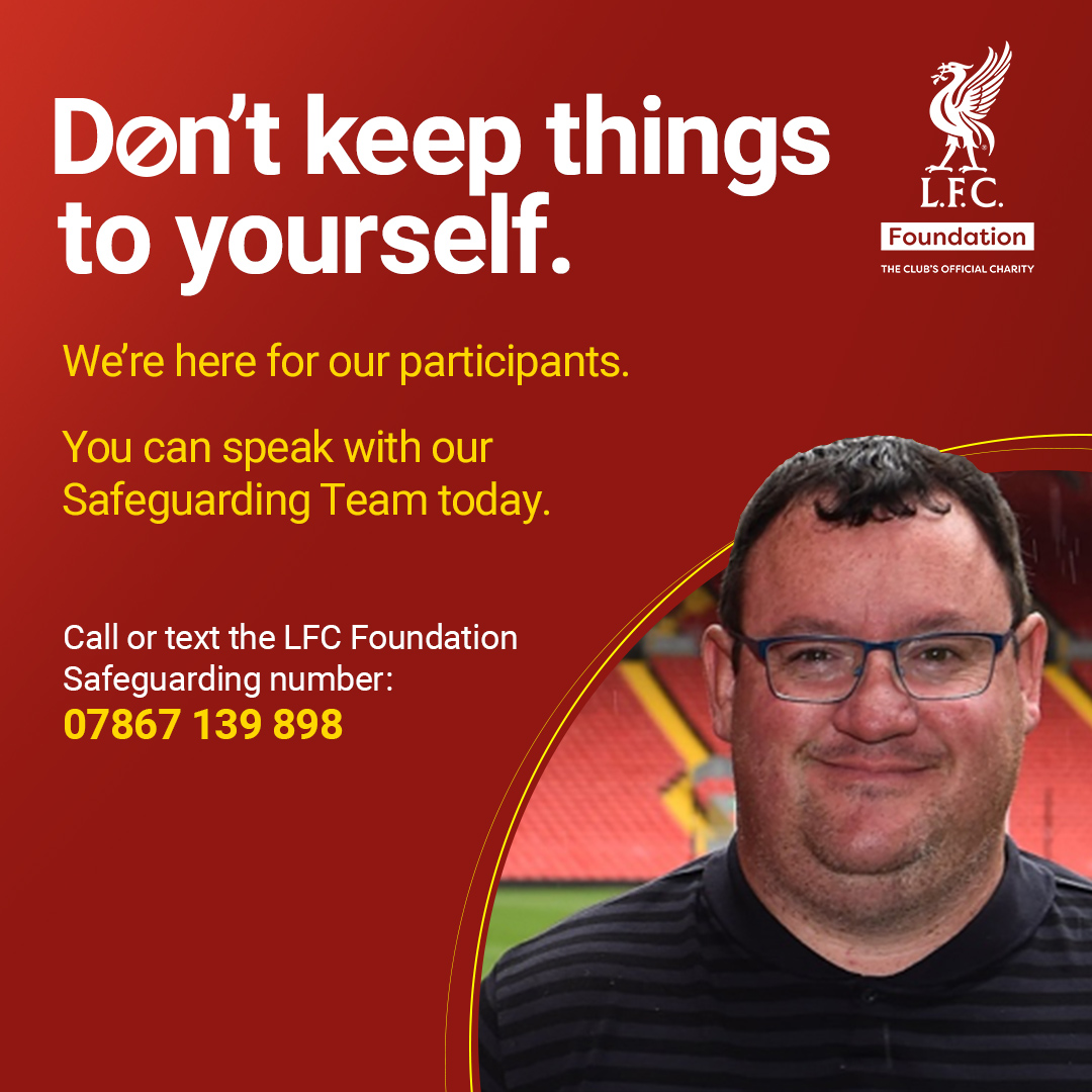We're here for our participants.❤️  You can speak with our @LFC Safeguarding Team today.  We will listen.  Guides for children & vulnerable adults available in the link. You can also report an issue here: