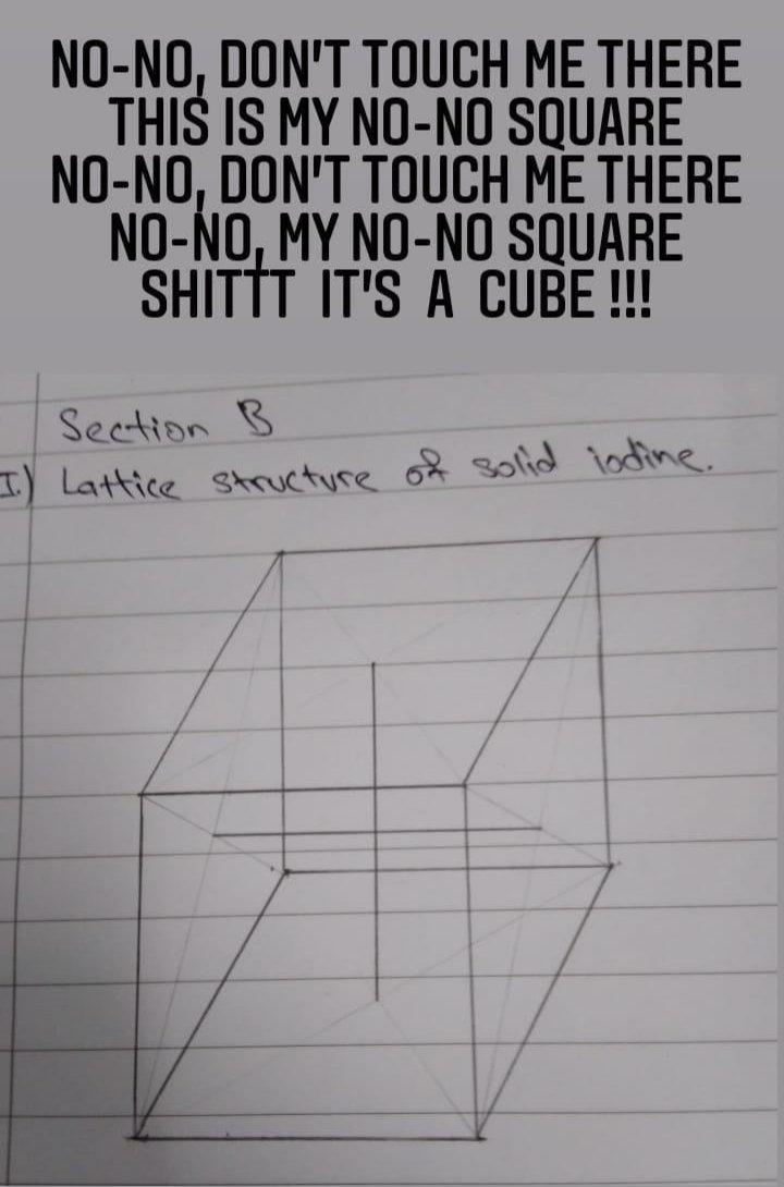 IT'S NOT NO-NO SQUARE!!! #Mathematics  #maths  #math #scifi  #science  #mathematician #physics  #Chemistry #mathmemes #nonosquare  #cube ...