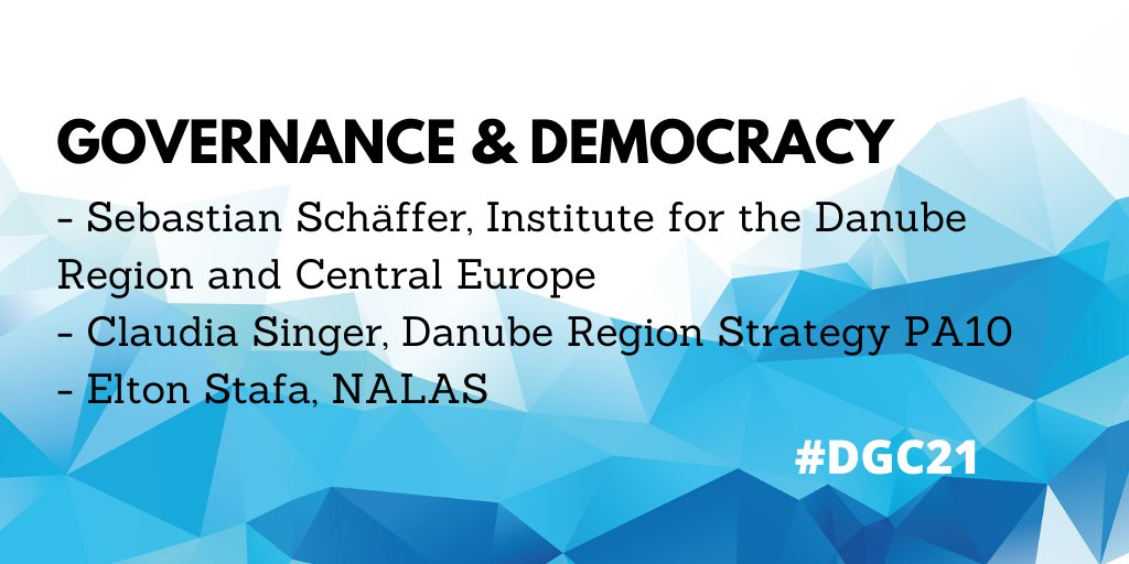 "The ""#DGC21 - Towards European integration with the SDGs"" will be held online on January 28. In Panel 1 the following experts will discuss #governance and #democracy: Sebastian Schäffer, Claudia Singer, @elton_stafa (@nalas_eu) Find more information here:"