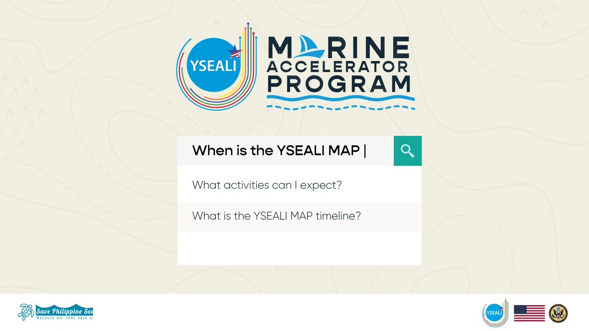 Are you ready to scale up your ocean-focused initiative and help address issues in maritime and inland waterways? SEAs the day and apply for the YSEALI Marine Accelerator Program by January 31, 2021! https://t.co/PmNnkEGVLj #YSEALImap @USEmbassyPH @SavePHSeas https://t.co/BgXQd14RpJ