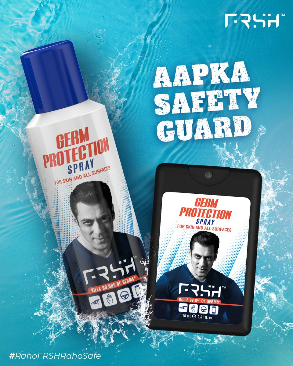 These r the ones I use in bigg boss, on sets and home.... #rahofrshrahosafe   Jai Salman Khan   @FrshGrooming #StayHome #StayFRSH #StayProtected