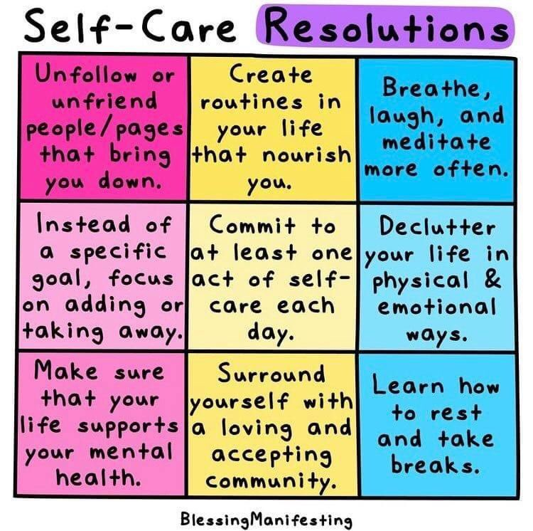 Be kind to others and look after yourself