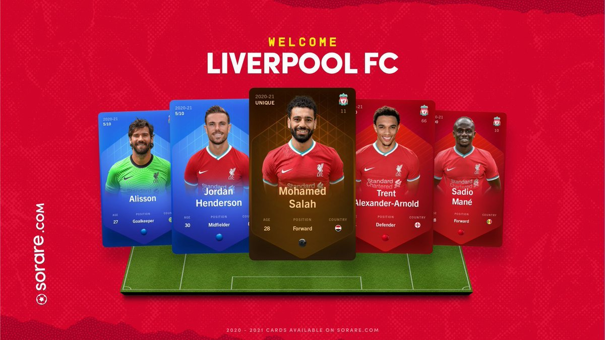 It's Official: Premier League Champions @LFC joins Sorare 🔥  With Liverpool joining us, we now have the current Champions from the top 5 European Leagues 🏆  First Edition card sales are on auction now🚀  🔴🔴 Official digital #LFC cards, only on