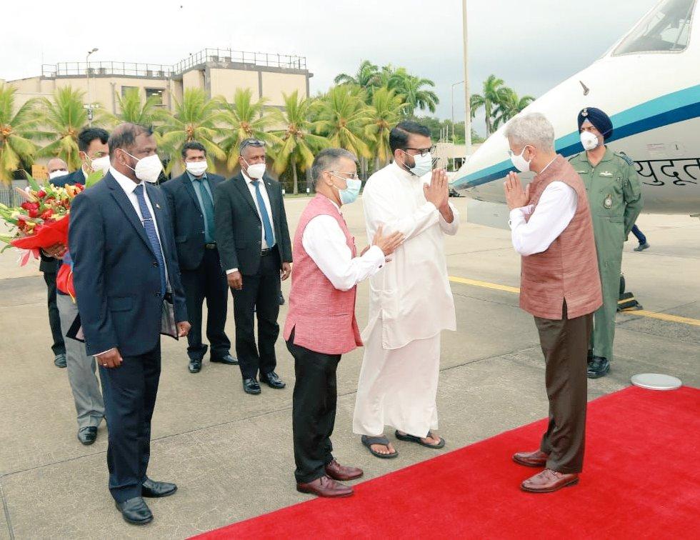 இந்திய வெளிவிவகார அமைச்சர் ஜெய்சங்கர் இலங்கை வந்தடைந்தார்-Indian External Affairs Minister Dr S Jaishankar Arrived in Sri Lanka