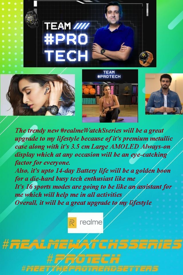 @MadhavSheth1 That's what realme is for us @MadhavSheth1  @realmemobiles  @realmeLink  #Contest #MeetTheProTrendsetters #realmeBudsAirPro  #realmeWatchSseries #ProTech #realme