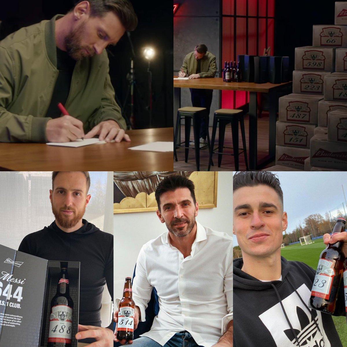 Para celebrar sus 644 goles con el Barça, Lionel y Budweiser le enviaron a cada uno de los 160 porteros a los que les anotó, una botella especial por cada gol. Oblak (10), Gigi y Kepa (2) ya recibieron las suyas. Diego Alves (21), Iraizoz (18) e Iker (17), los más beneficiados.