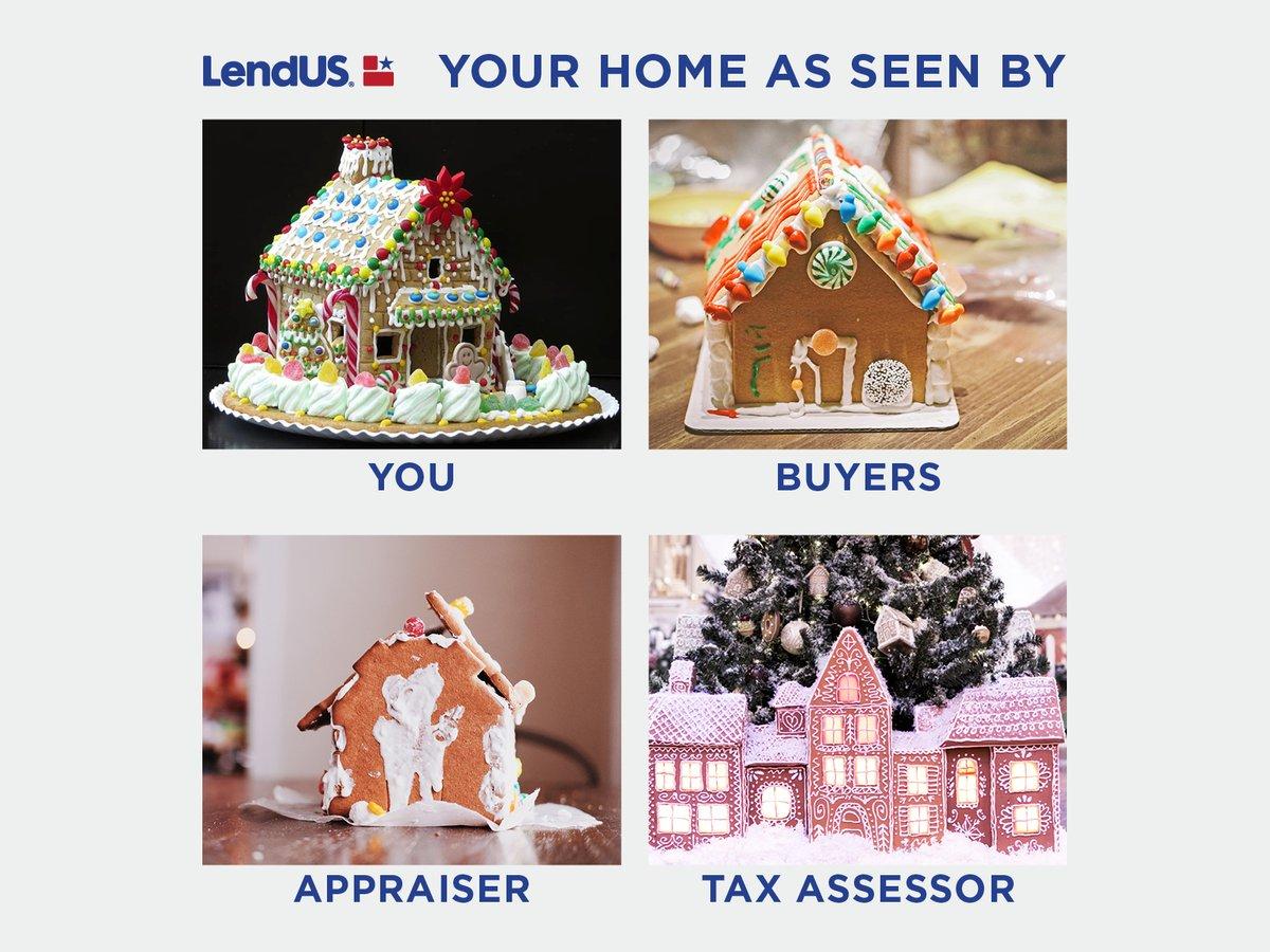A little Seller humor for the holidays!   #holidayjoy #gingerbreadhouses #renovation #holidays #humor #seller #buyer #b4usell #listingenhancementloan #bridgeloan #LendUSFamily https://t.co/gB998ahdFq