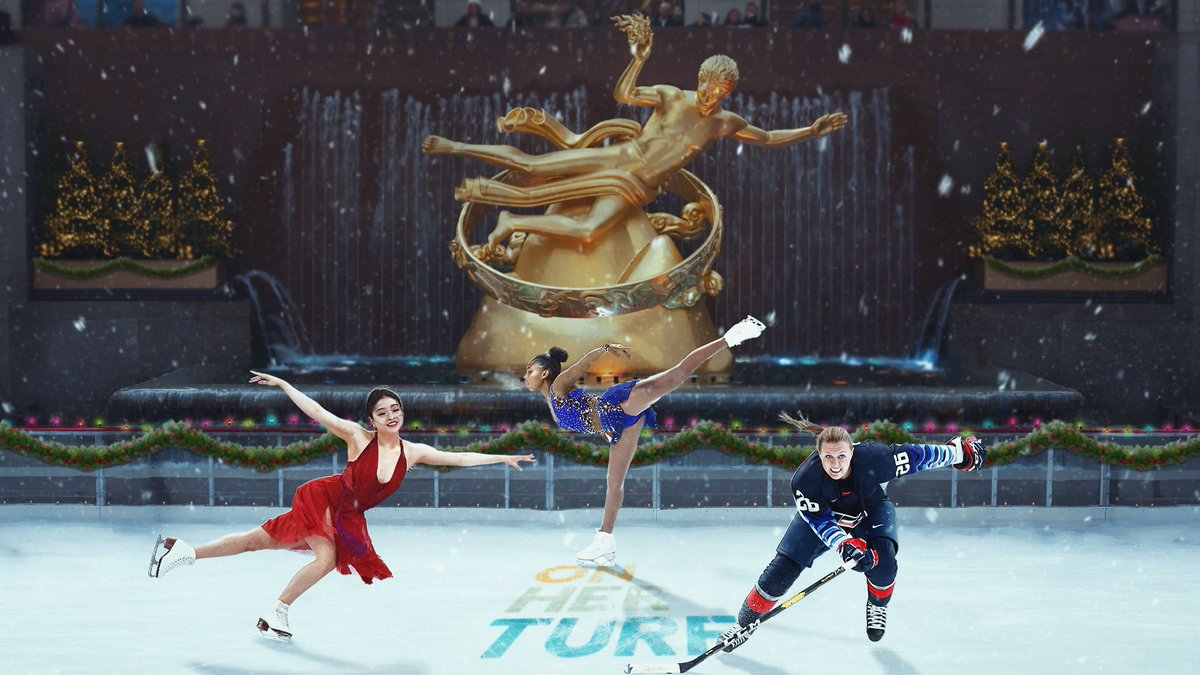 Our fantasy Winter Wonderland 😍 Happy Holidays from all of us at On Her Turf ❤️ @MaiaShibutani @Skating_Starr @KendallCoyne