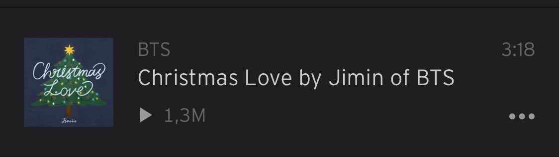 'Christmas Love' by Jimin has surpassed 1.3M views on SoundCloud!   Most popular track on BTS page:   #1 'Promise' by Jimin #11 'Christmas Love' by Jimin  Stream: