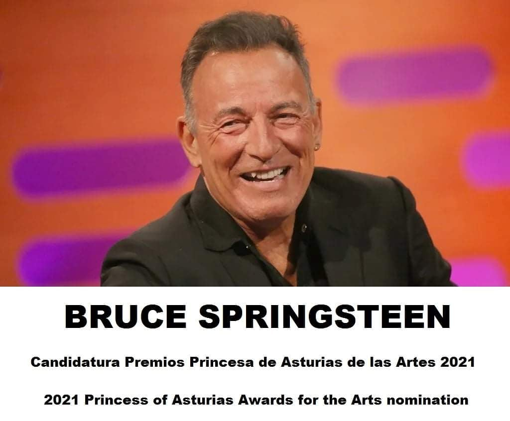 THIRD TIME IS THE CHARM !!  2021 Princess of Asturias Awards for the Arts nomination Because Bruce has already been a finalist 2 times and the third time is the charm ... let's make Bruce the winner !! It's Boss time !! Help us get it!! #ItsBossTime #SpringsteenPrincesaAsturias