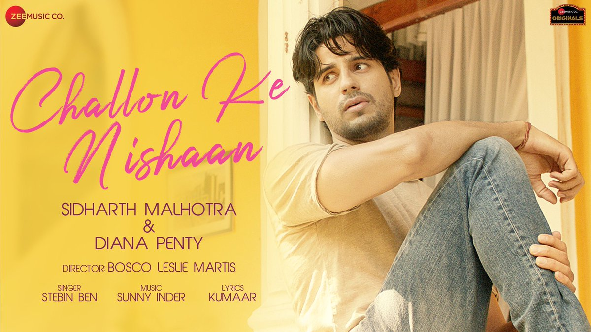 Gonna play #ChallonKeNishaan as my daily BRANDNEW song on @LycaRadio1458 🇬🇧 💔  @SidMalhotra @DianaPenty @stebinbenmusic @kumaarofficial #SunnyInder @BoscoMartis @anuragbedi #ZeeMusicOriginals @ZeeMusicCompany #SidharthMalhotra #DianaPenty