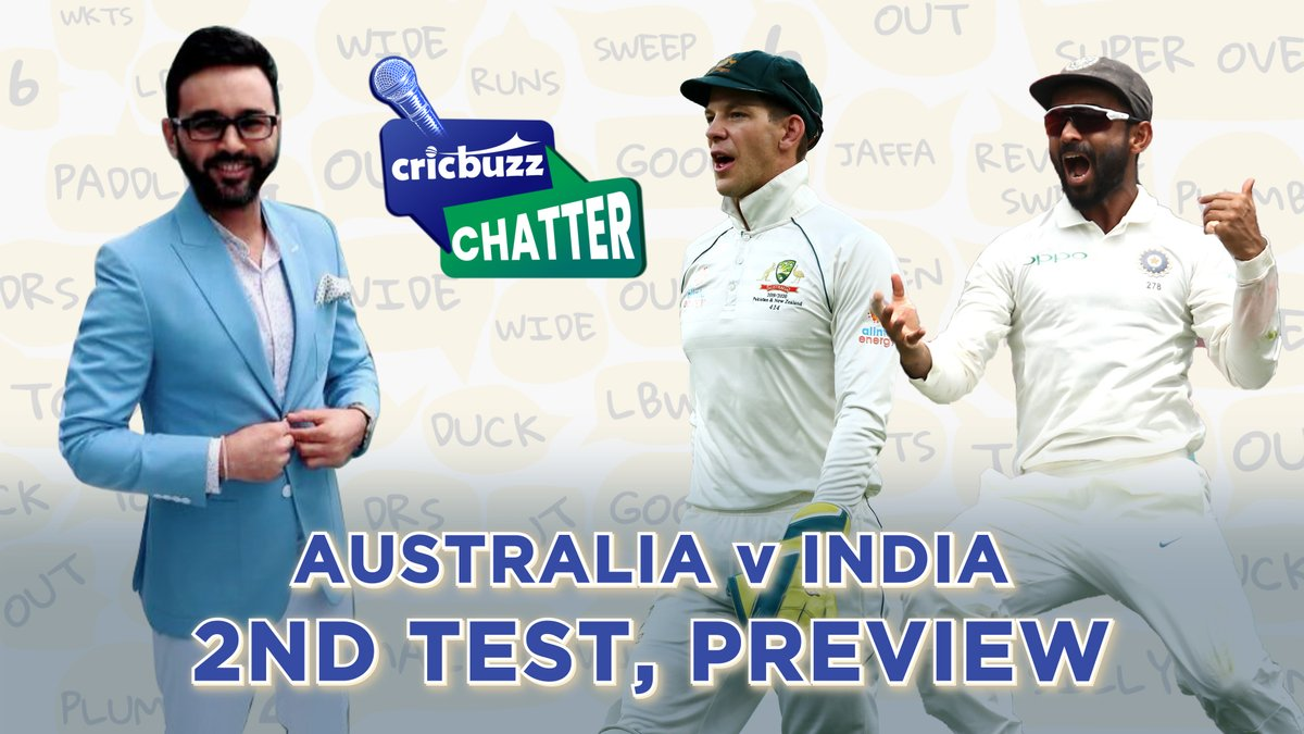 As predicted by @parthiv9 on #CricbuzzChatter, India's XI for 2nd Test will see four changes.   #Shaw-->#Gill  #Kohli--> #Jadeja #Saha--> #Pant #Shami--> #Siraj  Watch here  #AUSvIND #TeamIndia