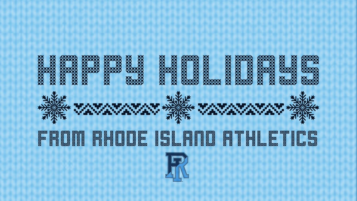 Rhode Island Athletics wishes you a safe and happy holiday season! 💙🐏 https://t.co/fgs4rTsp3A