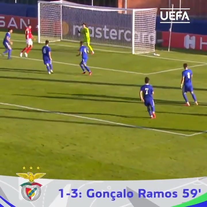 ⏪ How the 2020 #UYL was won 🏆   Gonçalo Ramos headed @SLBenfica past @gnkdinamo into the semi-finals 📺