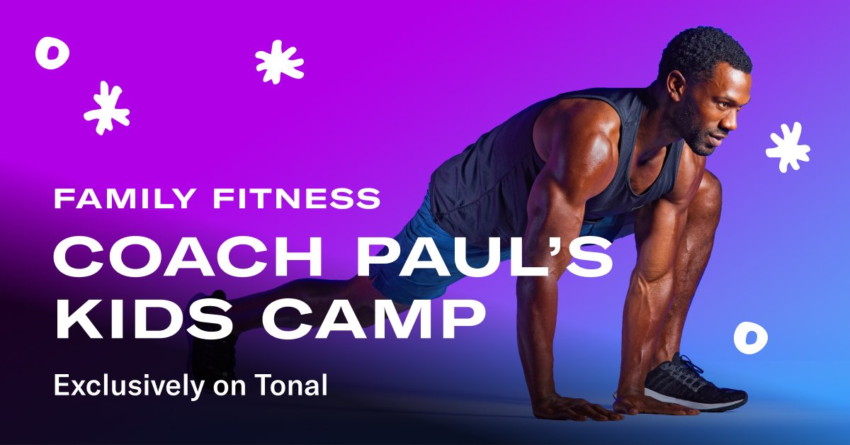 Get the whole family up and moving with Family Fitness. Coach Paul's Kids Camp is packed with high energy exercises to keep you alert and active with your kids during the holiday break. Discover Kids Camp and more Family Fitness workouts on Tonal: