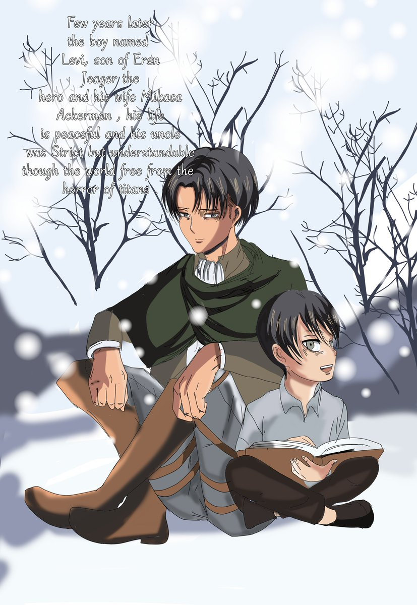 Elaine Jeager On Twitter Shingekinokyojin Eremika 進撃の巨人芸人 Leviackerman Merrychristmas Levi S Birthday Manga Title The Great Gift Cover Back Cover Https T Co Bjx5ei8sqj