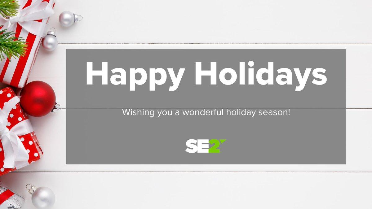 Happy Holidays from SE2! Wishing everyone a safe and joyful holiday season. #HappyHolidays https://t.co/5FMT9ISvLe