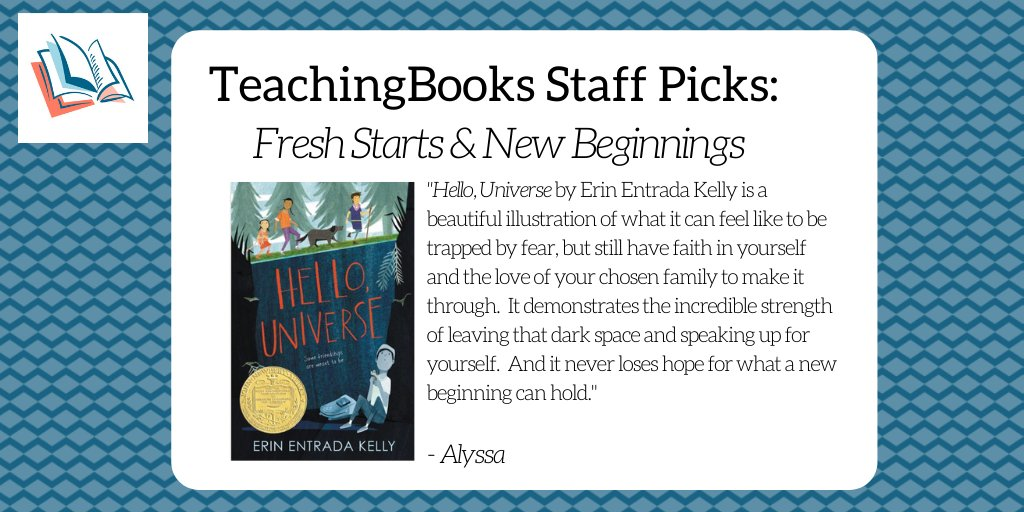test Twitter Media - To start the new year, we asked the TeachingBooks staff to share a book that celebrates fresh starts and new beginnings. Enjoy this Meet-the Author recording https://t.co/rElu8tNQc0 @GreenwillowBook @einentrada https://t.co/rsuZt2nO0e
