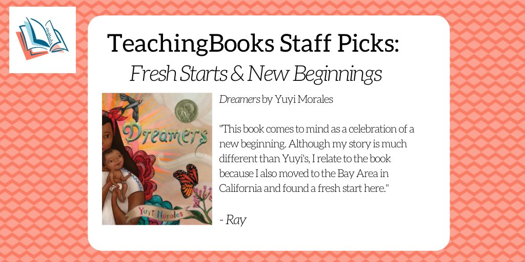 test Twitter Media - To start the new year, we asked the TeachingBooks staff to share a book that celebrates fresh starts and new beginnings. Enjoy this book trailer https://t.co/EIQ7fXn31G @HolidayHouseBks @yuyimorales https://t.co/qmd7fa3bLP