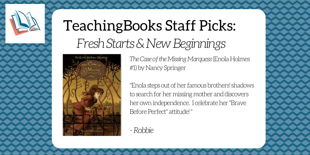test Twitter Media - To start the new year, we asked the TeachingBooks staff to share a book that celebrates fresh starts and new beginnings. Enjoy this trailer https://t.co/ImUCTOpObn  @PhilomelBooks @NancySpringer @rcreasoner https://t.co/5fhNvTKtot