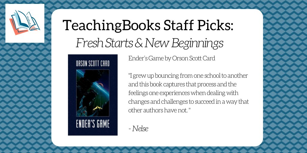 test Twitter Media - To start the new year, we asked the TeachingBooks staff to share a book that celebrates fresh starts and new beginnings. Enjoy this Meet-the-Author recording https://t.co/ocRyPk6Bfa @torbooks,@orsonscottcard https://t.co/2hWWcWnMHd