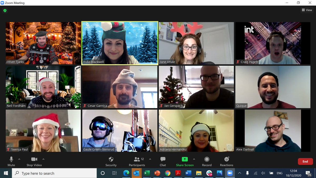 Members of our European team are in the holiday spirit during their weekly Zoom call! @CintGroup wishes you and yours a festive and memorable holiday season! #runrunrudolph #wearecint #CintCulture #happyholidays #winterwishes