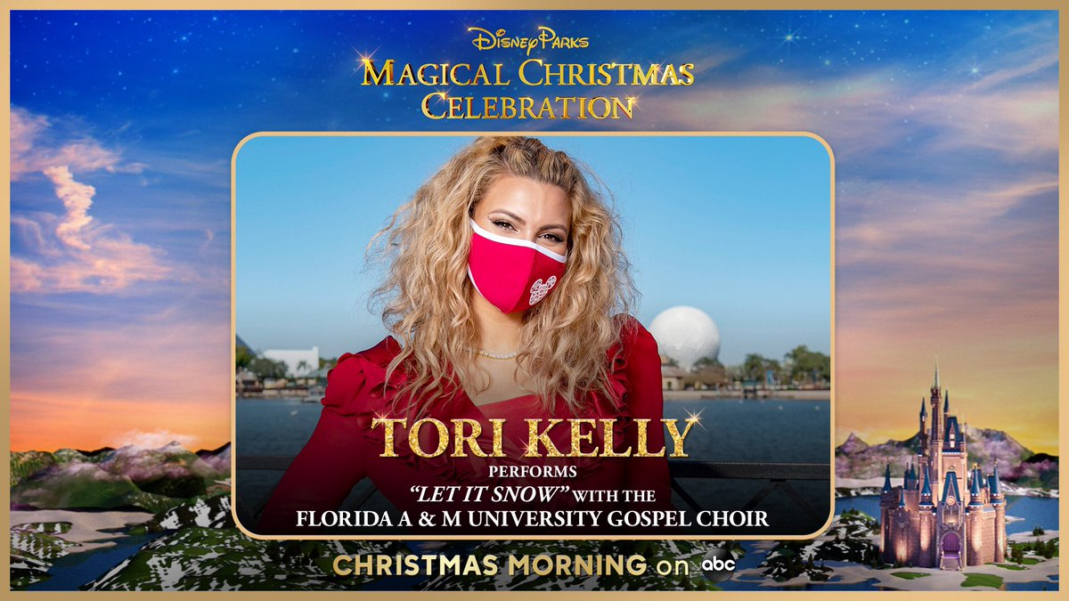 tomorrow morning my live performance from @waltdisneyworld will air on @abcnetwork at 10 am et/9am ct | pt 💫 make sure to tune in !! #disneychristmascelebration