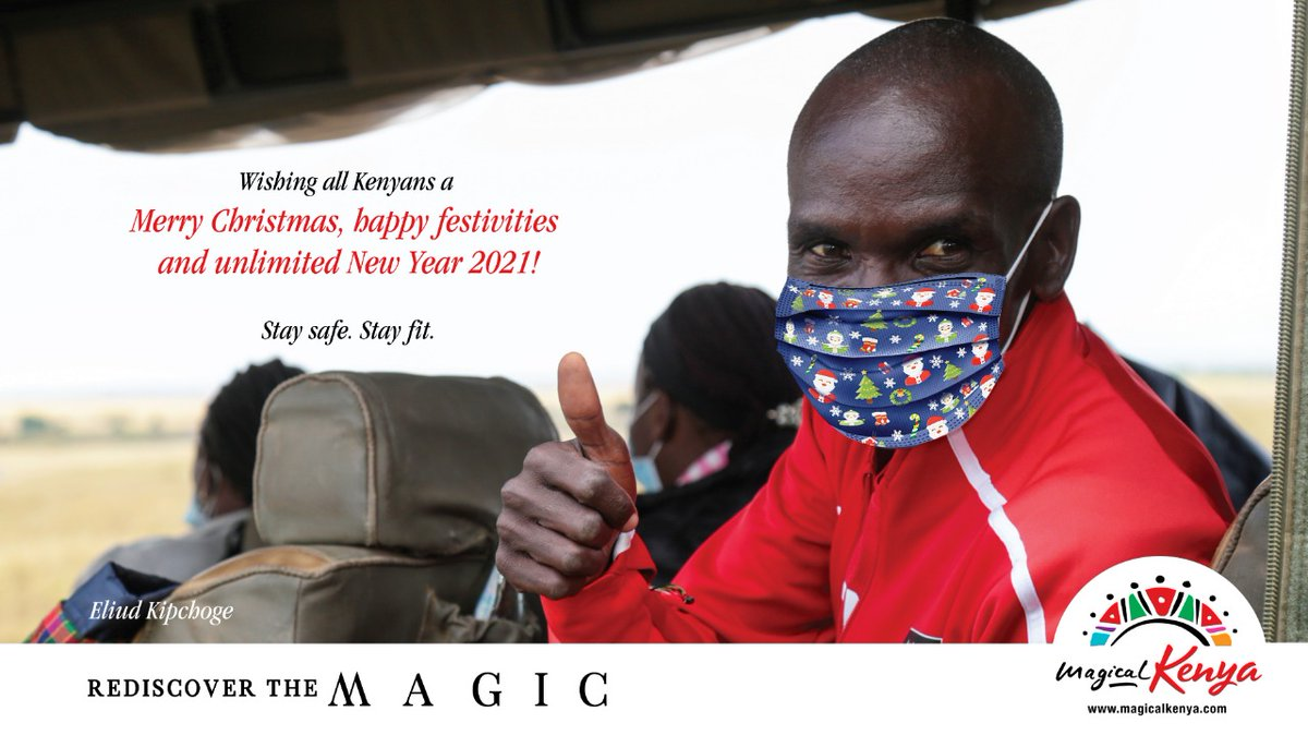 Merry Christmas and a happy unlimited 2021, stay safe, stay fit, @EliudKipchoge #MerryChristmas 🎄 #RediscoverTheMagic #MagicalKenya