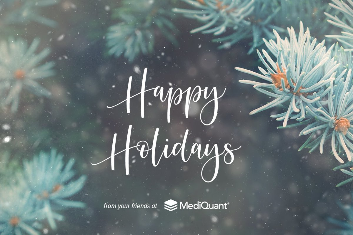 To you and yours from all of us at MediQuant.