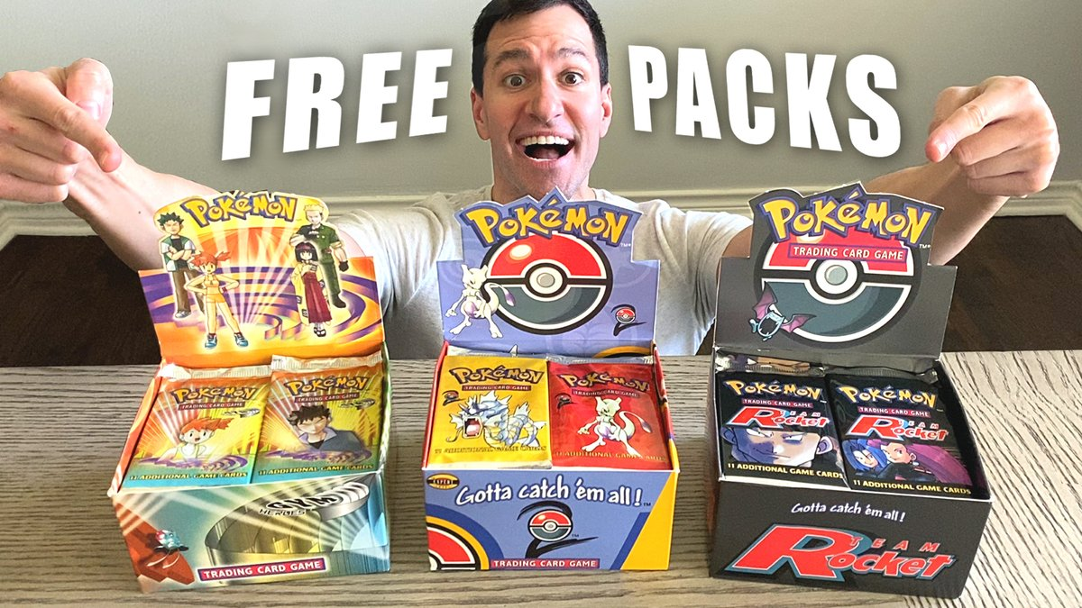 FREE VINTAGE PACKS! Special Pokemon Cards Opening! Watch: