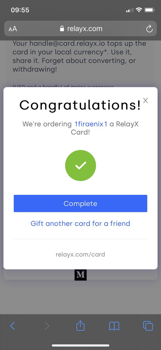 Got my @relayxio card! Awesome Christmas present Thanks @liujackc