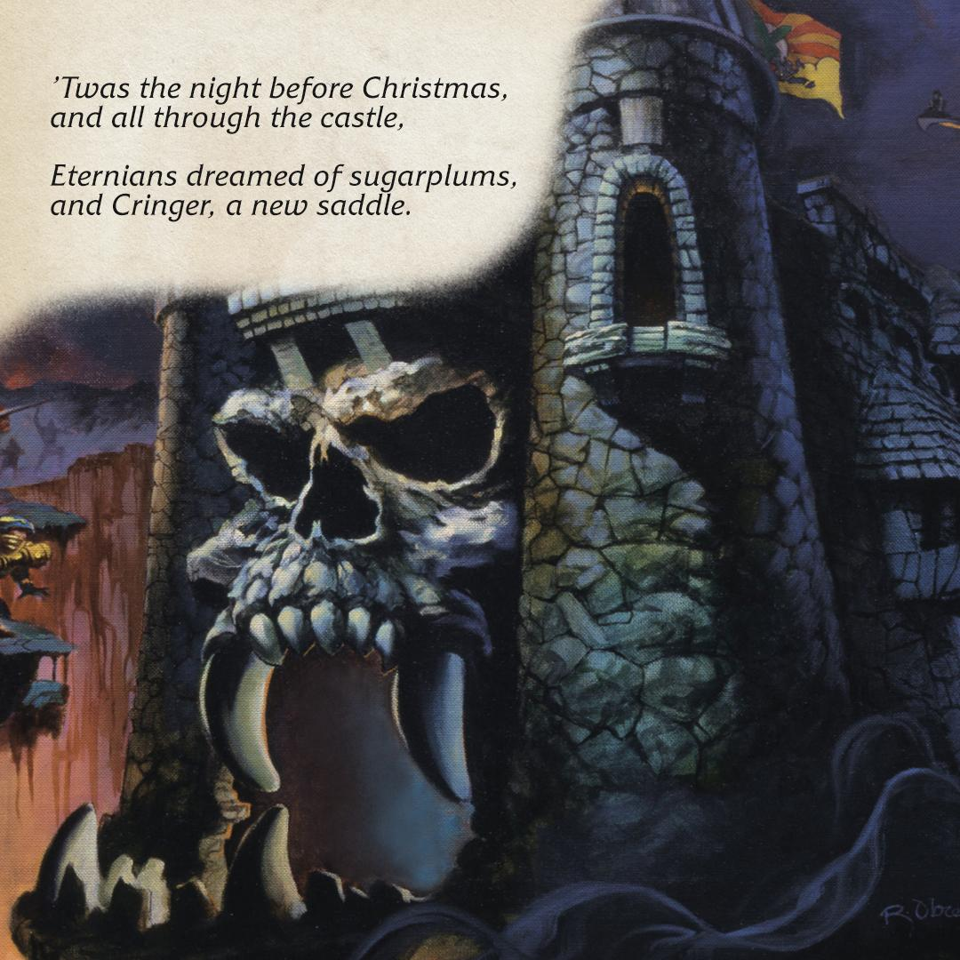 In Eternia, holiday traditions look just a little bit different.   [ The Art of He-Man and the Masters of the Universe ]