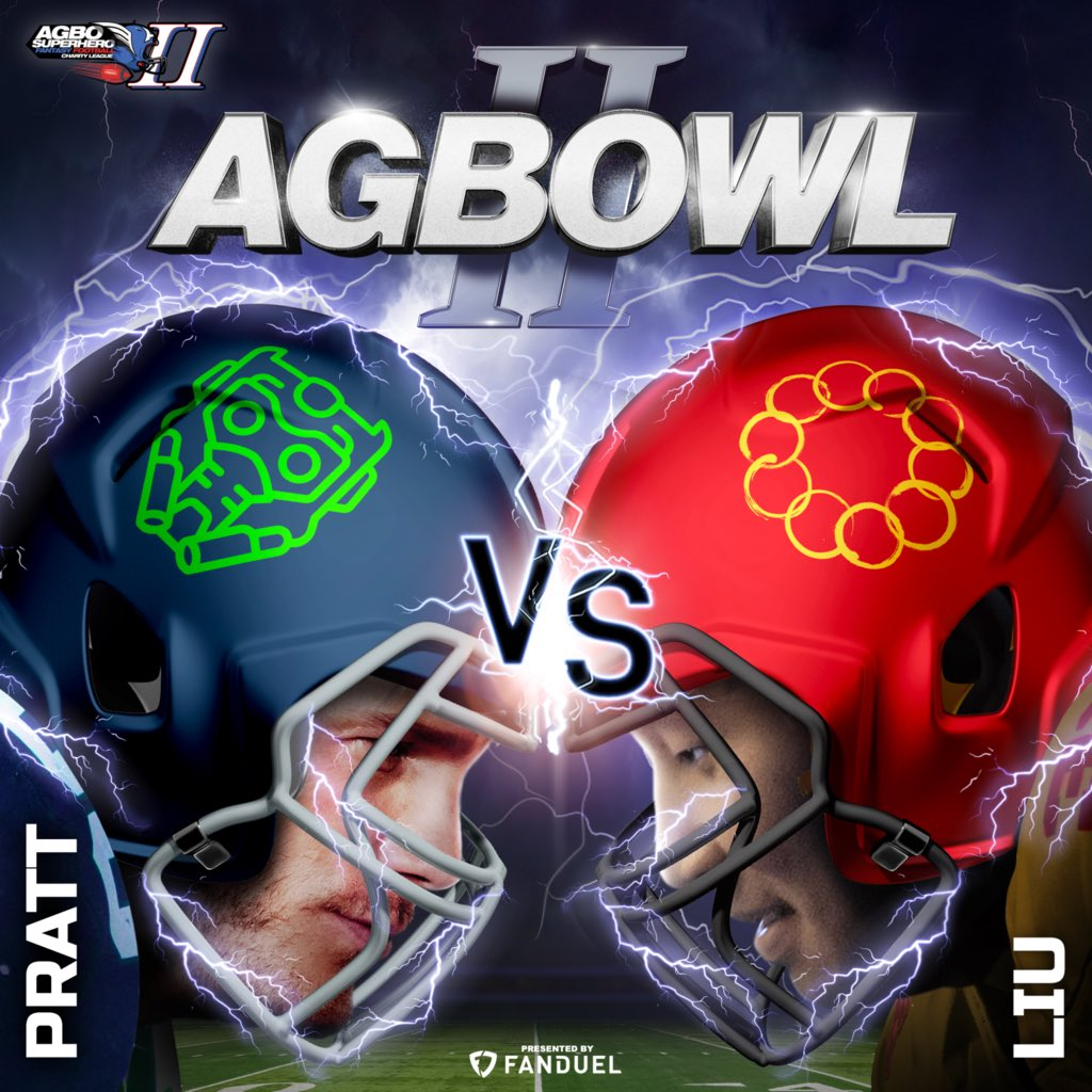IT'S THE AGBOWL!!🏈🏆 @prattprattpratt and @SimuLiu are about to go head to head this week for the CHAMPIONSHIP TITLE! It's going to be a very happy holiday weekend for someone #TeamPratt #TeamLiu  #AGBOSuperheroLeague presented by @FanDuel