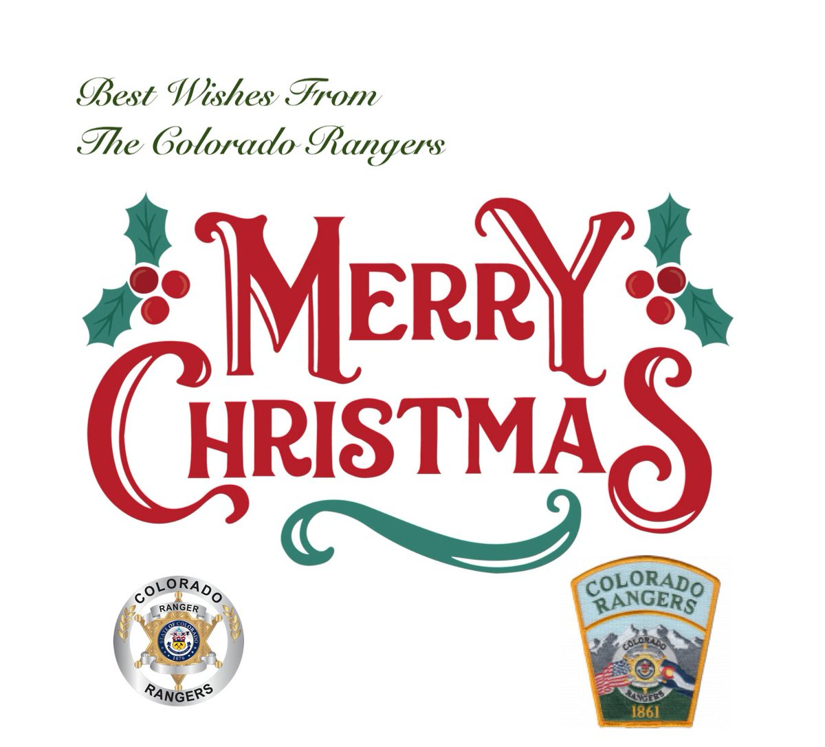Chief Abramson and the Colorado Rangers wish you all a very happy holiday season!  #OnlyStateWideSharedPoliceReserveInUSA #ColoradoRangers #LawEnforcement #POST_Certified #PoliceReserve #ToProtectAndToServe